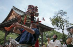 7月28日 波太神社にて総舞奉納