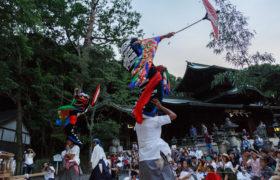 7月27日 波太神社での総舞奉納